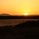 Sunset Over Whyalla Beach by Peter Vincent