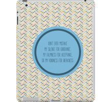Don't Mistake iPad Case/Skin