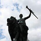 Man on Horse by Englund