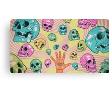 Candy Skulls Canvas Print