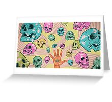 Candy Skulls Greeting Card