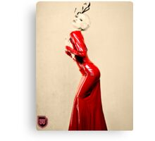 a lady in red Canvas Print