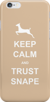 Keep calm and trust snape - Iphone case by Kate Bloomfield