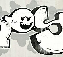 Abstract Graffiti detail on the concrete wall by yurix