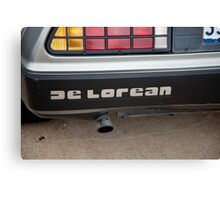 De Lorean nameplate Canvas Print