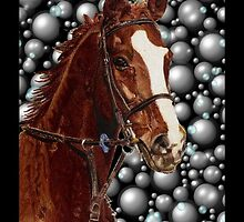 Horse & Bubbles iPhone Cases by Patricia Barmatz