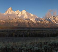 Teton Range Panorama - Early Snow by A.M. Ruttle