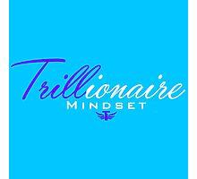 Trillionaire Mindset™ Purple & Blue #1 Photographic Print