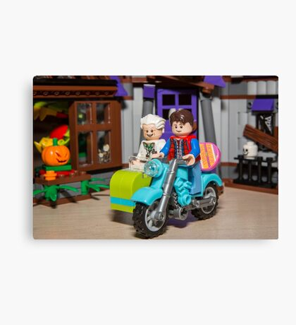 Marty and Doc ride Canvas Print