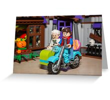 Marty and Doc ride Greeting Card