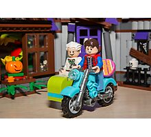 Marty and Doc ride Photographic Print