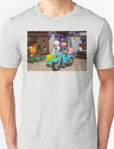 Marty and Doc ride Unisex T-Shirt