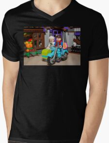 Marty and Doc ride Mens V-Neck T-Shirt