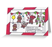 Gingerbread Fiesta Greeting Card