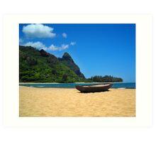 Boat and Bali Hai Art Print