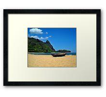 Boat and Bali Hai Framed Print