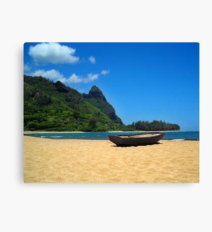 Boat and Bali Hai Canvas Print