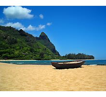 Boat and Bali Hai Photographic Print