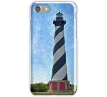 Hatteras Lighthouse (color with texture) iPhone Case/Skin