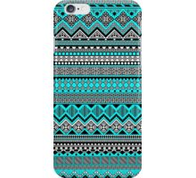 Blue and black Aztec  iPhone Case/Skin