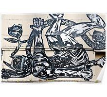 Defeated Alien-Graffiti Poster