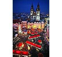 Prague Christmas Markets Photographic Print