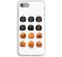 Black and Orange Jack 'o Lanterns iPhone Case/Skin