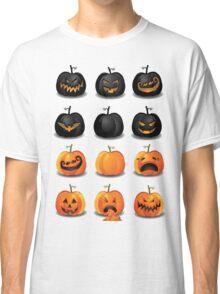 Black and Orange Jack 'o Lanterns Classic T-Shirt