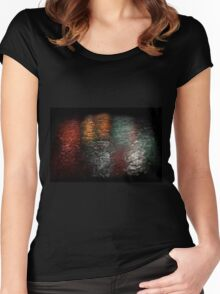 Reflection of Fireworks over Marina Bay Women's Fitted Scoop T-Shirt