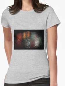 Reflection of Fireworks over Marina Bay Womens Fitted T-Shirt