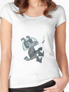 Space Dog Shirt Women's Fitted Scoop T-Shirt