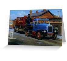 Scammell Highwayman lowloader. Greeting Card