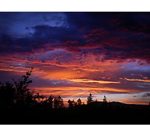 Fiery Sky Photographic Print
