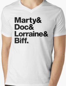 Back to the Future II Marty & Doc Mens V-Neck T-Shirt