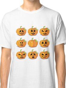 Orange stylized Jack O' Lanterns for Halloween or whenever Classic T-Shirt