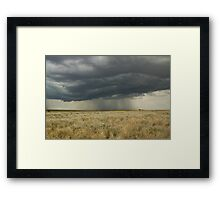 Drenching* Ilfracombe,Queensland. Framed Print