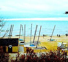 Catamarans in the fall by karlbrobicsek