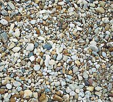 rock pile on the beach by karlbrobicsek