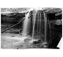 Monochrome Falls Poster
