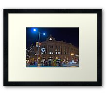 Boston South Station a December Evening  Framed Print