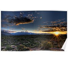 Four Peaks Sunrise  Poster