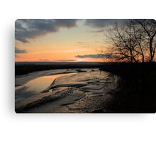 Padilla Bay Estuary at Dusk Canvas Print