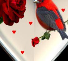 """*•.¸♥♥¸.•*CARDINAL HEART OF LOVE """"DID I TELL U THAT I LOVE U""""??*•.¸♥♥¸.•* Sticker"""
