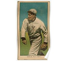 Benjamin K Edwards Collection Larry Doyle New York Giants baseball card portrait 001 Poster