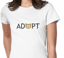 Adopt (Cat) Womens Fitted T-Shirt