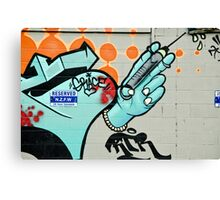 Graffiti Injection Canvas Print