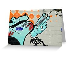 Graffiti Injection Greeting Card