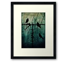 Silent Threats Framed Print