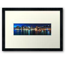NYC Skyline Panorama Framed Print