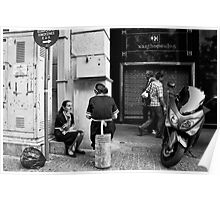 Cigarette break Poster